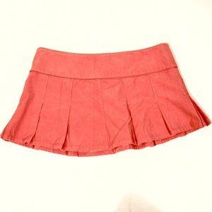Juniors LILU Lavender  corduroy PLEATED mini skirt size 7